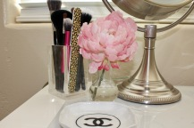 Peony Flower and Chanel Glass ~ The French Bee