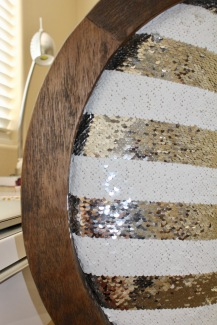 Sequin & Wood Grey Chair ~ Home Goods $?