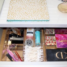 Clear Makeup Drawer Organizers ~ Target $30